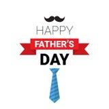 Manifesto felice della cartolina d'auguri di Day Family Holiday del padre retro Immagine Stock