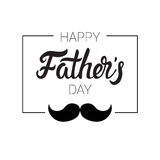 Manifesto felice della cartolina d'auguri di Day Family Holiday del padre retro Fotografie Stock