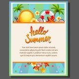Manifesto felice di estate illustrazione vettoriale