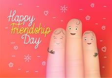 Manifesto felice di giorno di amicizia Fotografia Stock Libera da Diritti