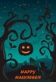Manifesto felice di Halloween illustrazione vettoriale