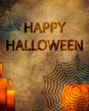 Manifesto felice di Halloween Fotografia Stock