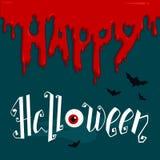 Manifesto felice di Halloween Iscrizione della mano di vettore Fotografia Stock