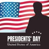 Manifesto felice di presidenti Day Fotografia Stock Libera da Diritti