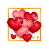Manifesto felice di vendita di giorno di biglietti di S. Valentino Fotografia Stock Libera da Diritti