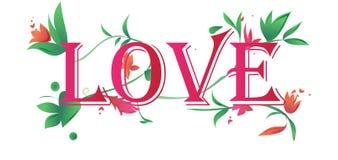 Manifesto floreale di amore Fotografie Stock