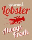 Manifesto gastronomico dell'aragosta Fotografia Stock Libera da Diritti
