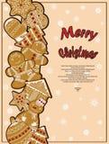 Manifesto illustrato sul tema di Natale Fotografie Stock Libere da Diritti