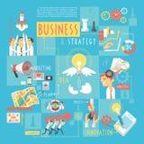 Manifesto infographic degli elementi di concetto di affari Fotografia Stock Libera da Diritti