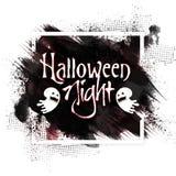 Manifesto, insegna o aletta di filatoio di notte di Halloween Immagine Stock