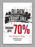 Manifesto, insegna o aletta di filatoio di vendita di Black Friday Immagini Stock