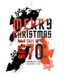 Manifesto, insegna o aletta di filatoio di vendita di Buon Natale Fotografie Stock Libere da Diritti