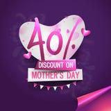 Manifesto, insegna o aletta di filatoio di vendita di festa della Mamma Immagini Stock Libere da Diritti