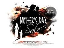 Manifesto, insegna o aletta di filatoio di vendita di festa della Mamma Fotografia Stock