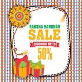 Manifesto, insegna o aletta di filatoio di vendita per Raksha Bandhan Immagine Stock Libera da Diritti