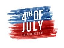 Manifesto, insegna o aletta di filatoio per il 4 luglio Fotografia Stock