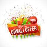 Manifesto, insegna o aletta di filatoio per l'offerta speciale di Diwali Immagine Stock