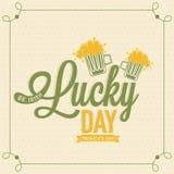 Manifesto, insegna o aletta di filatoio per la celebrazione del giorno di St Patrick illustrazione di stock
