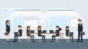 manifesto interno dilavoro dell'ufficio moderno dello spazio illustrazione di stock