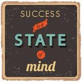 Manifesto ispiratore di successo Immagini Stock