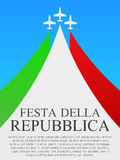 Manifesto italiano di festa nazionale Fotografia Stock Libera da Diritti