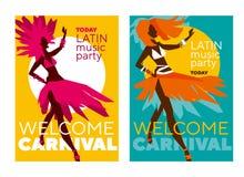 Manifesto latino di carnevale di musica royalty illustrazione gratis