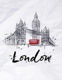 Manifesto Londra Immagini Stock Libere da Diritti