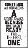 Manifesto motivazionale Grungy Decorazione nell'interno Fotografia Stock Libera da Diritti