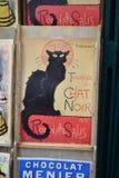 Manifesto in negozio di regalo, Parigi Fotografia Stock Libera da Diritti