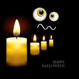 Manifesto nero con le candele brucianti Adatto a Halloween EPS10 illustrazione di stock