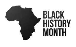 Manifesto nero di mese di storia illustrazione di stock