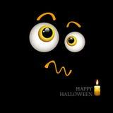 Manifesto nero per Halloween Occhi del mostro illustrazione di stock