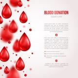 Manifesto o aletta di filatoio erogatore Salvataggio di donazione di sangue Fotografie Stock