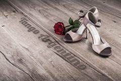 Manifesto o cartolina di tango dell'Argentina Fotografia Stock Libera da Diritti