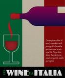 Manifesto o contrassegno del vino dell'Italia di vettore Immagini Stock