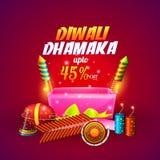 Manifesto o insegna di vendita di Diwali Fotografia Stock