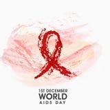 Manifesto o insegna per il concetto di Giornata mondiale contro l'AIDS Immagine Stock