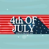 Manifesto o insegna per la celebrazione americana di festa dell'indipendenza Fotografia Stock Libera da Diritti