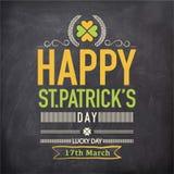 Manifesto o insegna per la celebrazione del giorno di St Patrick Immagine Stock Libera da Diritti
