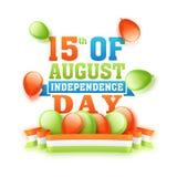 Manifesto o insegna per la festa dell'indipendenza indiana Immagine Stock Libera da Diritti