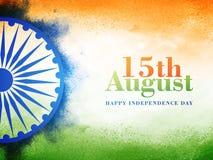 Manifesto o insegna per la festa dell'indipendenza indiana Fotografia Stock
