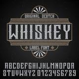 Manifesto originale del whiskey Fotografia Stock
