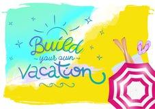 Manifesto orizzontale di estate per l'agenzia di viaggi Illustrazione Vettoriale