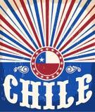 Manifesto patriottico d'annata del Cile Fotografia Stock Libera da Diritti