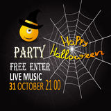 Manifesto per Halloween Buon mostro, web, testo Illustrazione EPS10 di vettore illustrazione di stock