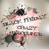 Manifesto per il giorno di Black Friday Grande vendita, grandi sconti Fotografia Stock Libera da Diritti