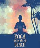 Manifesto per pratica di yoga Immagine Stock