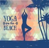 Manifesto per pratica di yoga Fotografia Stock Libera da Diritti