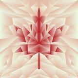Manifesto poligonale del mosaico di autunno di vettore nel rosso Fotografie Stock Libere da Diritti