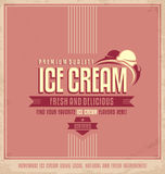 Manifesto promozionale d'annata del gelato Immagini Stock Libere da Diritti
